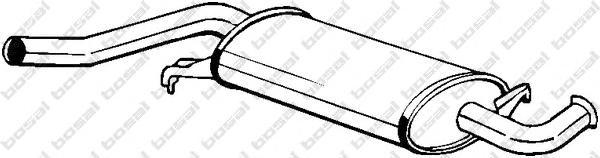 105971 Резонатор AUDI A6/100 2.0-2.3 84-96