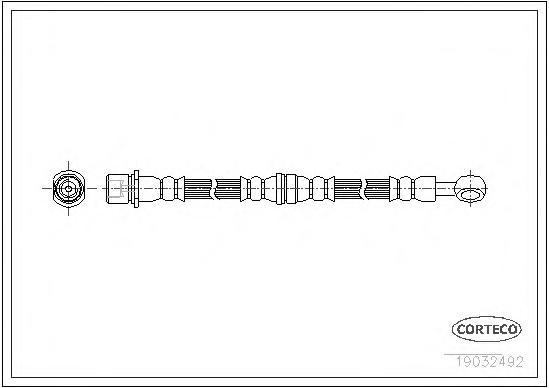 19032492 Шланг торм. Fr R Subaru Forester 97-02 565мм