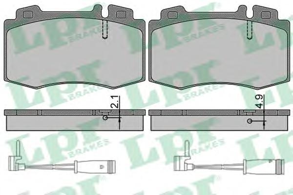 05P849A Колодки тормозные MERCEDES-BENZ C209/W203/W211/W220/R171/R230 передние (+2датч.)