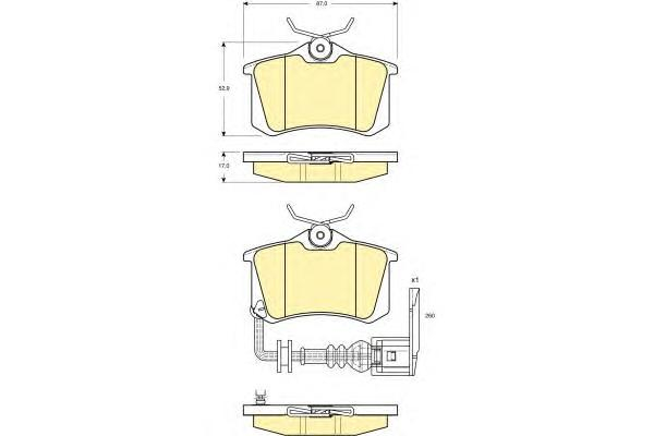 6114751 Колодки тормозные SEAT IBIZA 02-/SKODA FABIA 99-08/VW POLO 01- задние с датч.