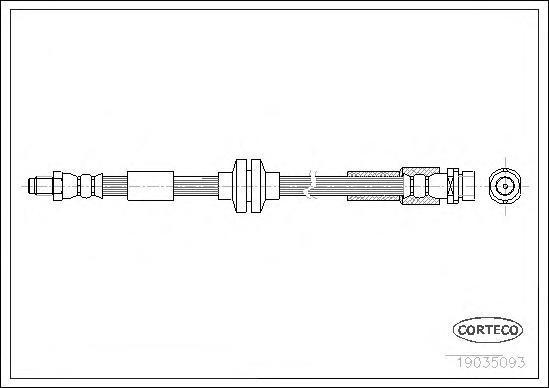 19035093 Шланг торм. Re 240 мм MAZDA 5 05-