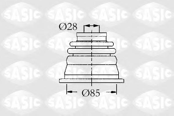 4003451 Пыльник ШРУСа RENAULT LAGUNA 1.9D/3.0 01 внутр.