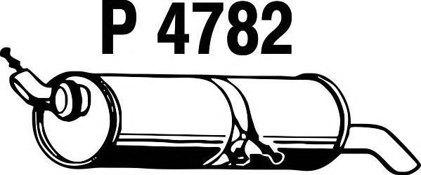 p4782 Глушитель выхлопных газов конечный