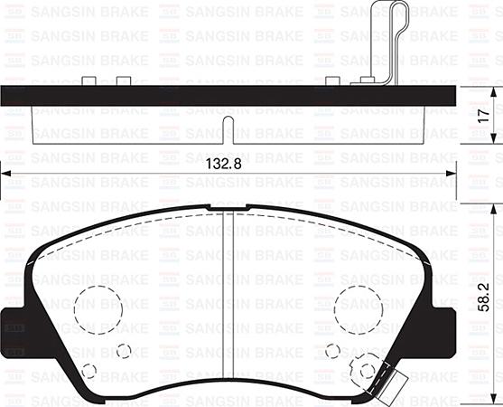 SP1399 Колодки тормозные HYUNDAI SOLARIS 10-/KIA RIO 11- передние