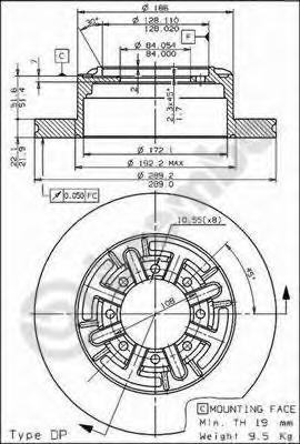 08595210 Диск тормозной задний IVECO DAILY III