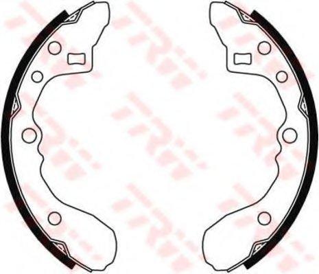 PSP238 Колодки тормозные барабанные задн MAZDA: 323 1.1-1.7D 85-89