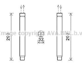 BWD445 Осушитель кондиционера BMW F20/F30 1.6-3.0/1.6D-3.0D 10-