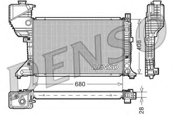 DRM17015 Радиатор MB SPRINTER 2.3D-2.9D 95-07