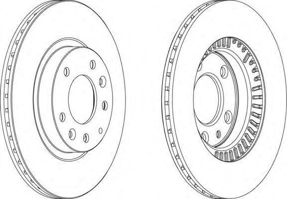 ddf1657 Тормозной диск