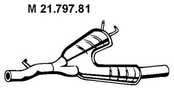 2179781 Резонатор E39 520/523/528i TOURING