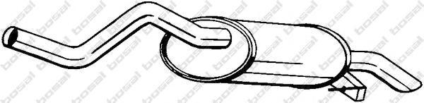 200459 Глушитель RENAULT CLIO 1.4 98-