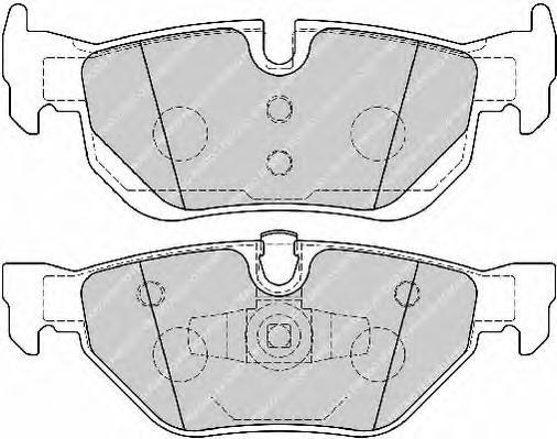 FDB1807 Колодки тормозные BMW E81/E87/E90/E91/E84 X1 задние