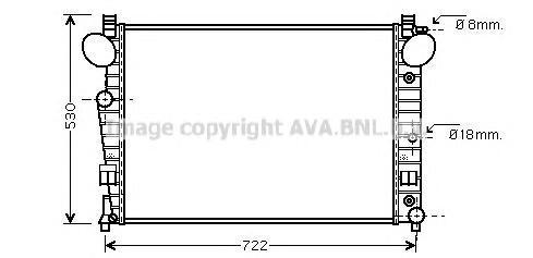 MSA2308 Радиатор MB W220 4.3/5.0 98-06