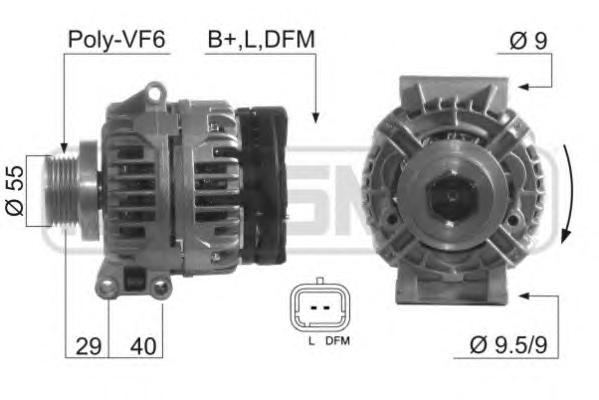 210397 Генератор RENAULT LOGAN/MEGANE/KANGOO 1.4/1.6 8V