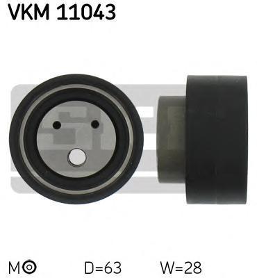 VKM11043 Ролик натяжной ремня ГРМ Audi 100 2.4D,2.5TDI 90-94