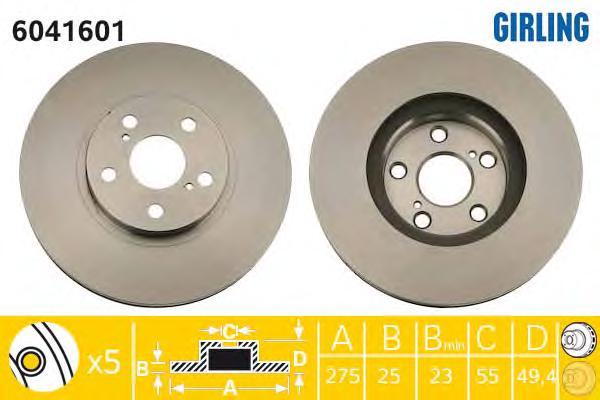 6041601 Тормозной диск