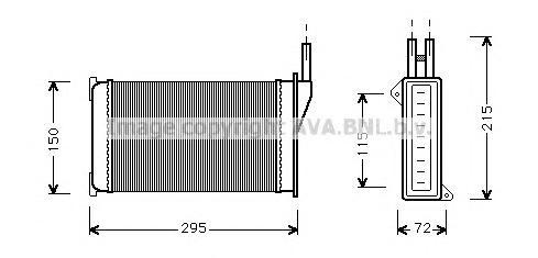 FD6098 Радиатор отопителя FORD ESCORT 2.0 91-98