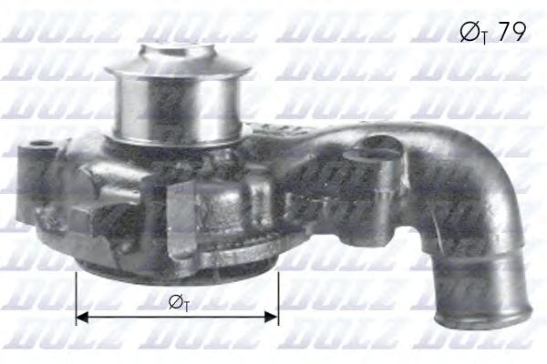 F155 Насос водяной FORD Escort/Orion (Mot. D18TI) 1.8TD EGR /SW 05/93-