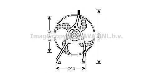 CN7538 Вентилятор радиатора CITROEN C2/C3/C5 1.4-2.0/HDI