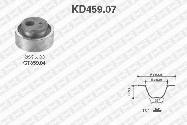 KD45907 Деталь SK SNR Pем. Комплект ГPМ: pемень