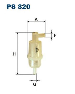 PS820 Фильтр топливный MB W123/W124/W463/T1/SSANGYONG MUSSO/KORANDO D/TD
