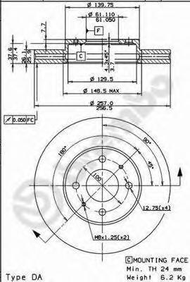 09735710 Тормозной диск