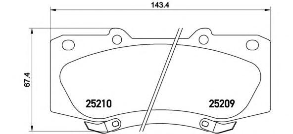 P83140 К-т торм. колодок Fr Toyota Hilux III 07-