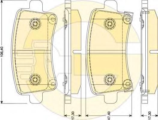 6117841 Колодки тормозные OPEL INSIGNIA 08-/SAAB 9-5 10- задние