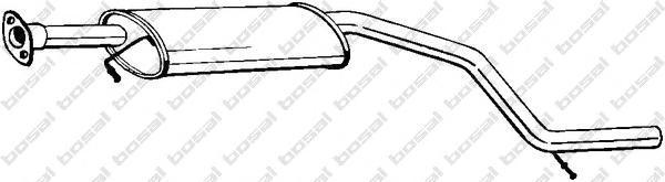 281071 Средний глушитель выхлопных газов