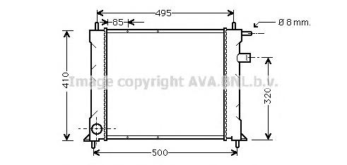 AU2110 Радиатор ROVER 45 1.4-1.8 96-06