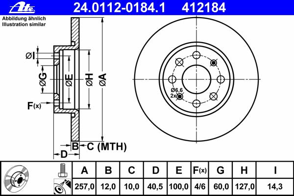 24011201841 Диск тормозной передн, FIAT: PUNTO/ GRANDE PUNTO 1.2 05-  OPEL: CORSA D 1.0 06-