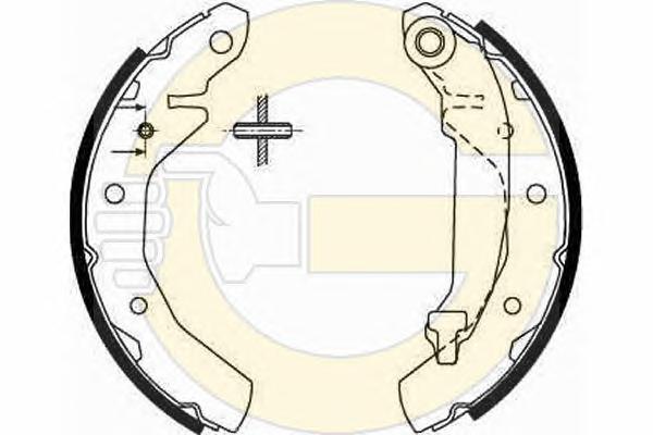 5186459 Колодки торм.бар.CHEVROLET SPARK 0.8-1.0 05-/DAEWOO MATIZ 0.8-1.0 98-