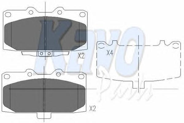 KBP8003 Колодки тормозные SUBARU FORESTER 01-/IMPREZA 01-/LEGACY 98- передние
