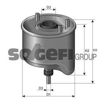 CS764 Фильтр топливный FORD: C-MAX 1.6TDCI 10-, FIESTA 1.6TDCI 08-, FOCUS lll 1.6TDCI 11-, GRAND C-MAX 1.6TDCI 10-  MAZDA: 5 1.6