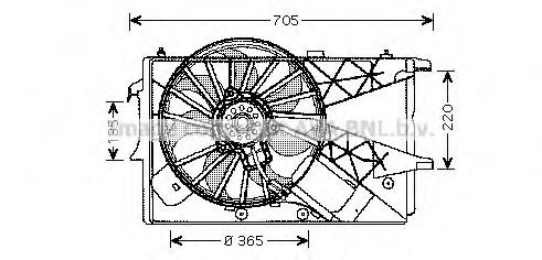 OL7527 Вентилятор радиатора OPEL MERIVA -10