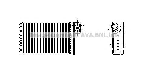 CN6191 Радиатор отопителя CITROEN C5 1.8-3.0/1.6D-3.0D 04-