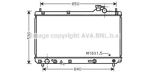 TO2457 Радиатор LEXUS RX 300 3.0 98-02
