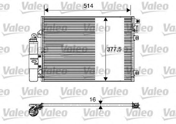 817827 Конденсатор кондиционера DACIA: LOGAN 1.4 (LSOA, LSOC, LSOE, LSOG)/1.6 (LSOB, LSOD, LSOF, LSOH) 04-
