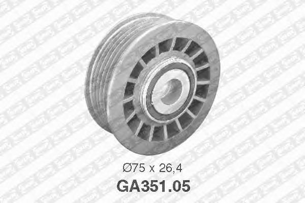 GA35105 Деталь GA351.05_pолик обв. ! MB W201 W1