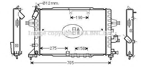OLA2365 Радиатор системы охлаждения OPEL: ASTRA H 1.7 CDTI 04 -   VAUXHALL: ASTRA MK V Наклонная задняя часть 1.7 CDTI 04 -