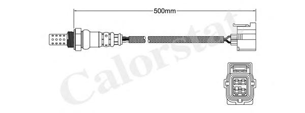 LS140082 Лямбда-зонд MERCEDES-BENZ: C-CLASS C 230 4-matic/C 280 4-matic/C 350 4-matic 07-, CLS CLS 63 AMG 04-10, E-CLASS E 63 AM