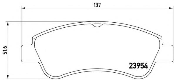 P61066 Колодки тормозные CITROEN C4 03-/PEUGEOT 307/PARTNER 1.4/1.6 -ESP передние