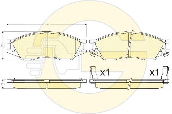 6135636 Колодки тормозные NISSAN ALMERA CLASSIC 06- передние