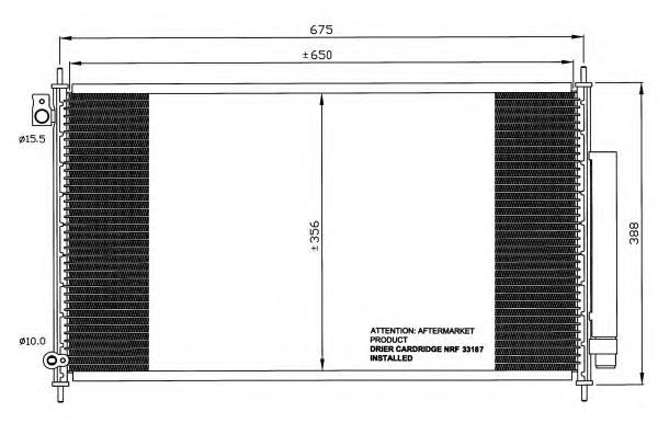 35559 Конденсер HO Accord VIII 03-