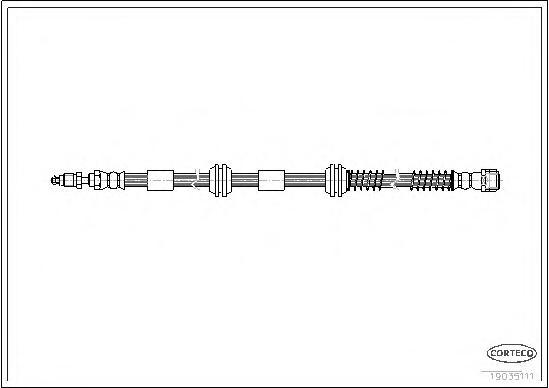 19035111 Шланг тормозной VW: TOUAREG 2.5 R5 TDI 02-10