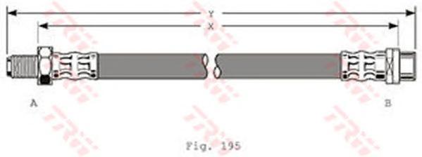 PHB320 Шланг тормозной MERCEDES-BENZ: W202 1.8/2.0/2.2 93-97/2.5/2.8 93-94, W140 2.8/4.2/6.0 93-99, 3.0/5.0 96-98, 3.2 93-95, 3.