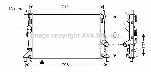 FDA2369 Радиатор FORD FOCUS 1.4-2.0/2.0TD 04-