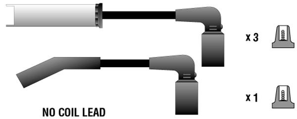 PECE04 Провода в/в CHEVROLET AVEO/LANOS 1.4/1.6 SOHC