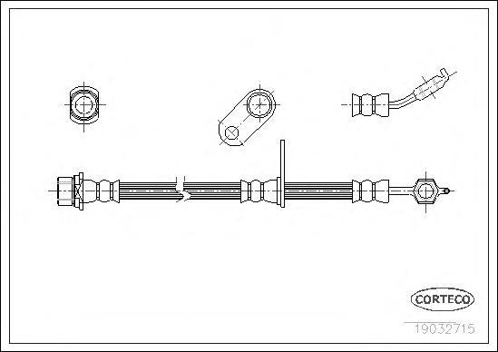 19032715 Шланг торм. Fr L Toyota RAV 4 <94-00 460мм