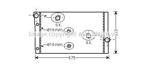 BW2410 Радиатор BMW F01/F07/F10/F11 2.0D/3.0D 08-